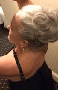 gray hair updo