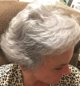 silver gray hair medium length